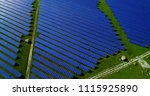 solar panels in aerial view | Shutterstock . vector #1115925890