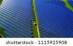 solar panels in aerial view | Shutterstock . vector #1115925908