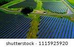 solar panels in aerial view | Shutterstock . vector #1115925920