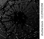 broken glass. black explosion.... | Shutterstock .eps vector #1115932358