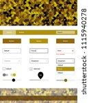 dark yellow vector design ui...