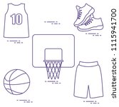 sports uniform and equipment... | Shutterstock .eps vector #1115941700