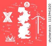symbols of the popular fantasy...   Shutterstock .eps vector #1115941820