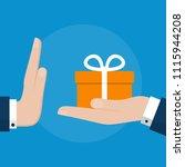 businessman hand refusing the... | Shutterstock .eps vector #1115944208
