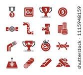 copper icon set | Shutterstock .eps vector #1115948159