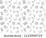 sketch seamless pattern with... | Shutterstock .eps vector #1115949719