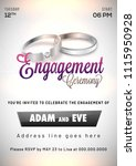 engagement invitation card...   Shutterstock .eps vector #1115950928