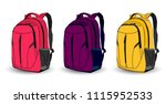set of multi colored school... | Shutterstock .eps vector #1115952533