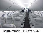 interior of the new airbaltic... | Shutterstock . vector #1115954639