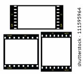 set  blank film strip isolated... | Shutterstock . vector #111595964