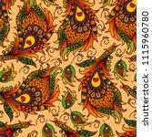 vector ethnic wallpaper.... | Shutterstock .eps vector #1115960780