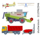 agriculture harvest machine... | Shutterstock .eps vector #1115962346