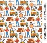 sawmill woodcutter character... | Shutterstock .eps vector #1115962388