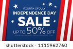 fourth of july. independence... | Shutterstock .eps vector #1115962760