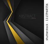 yellow line geometric and black ... | Shutterstock .eps vector #1115968556