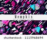 memphis seamless pattern.... | Shutterstock .eps vector #1115968694