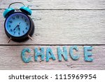 retro clock and chance word... | Shutterstock . vector #1115969954