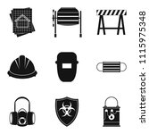 specialist builder icons set....   Shutterstock . vector #1115975348