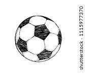 football icon sketch or soccer... | Shutterstock .eps vector #1115977370