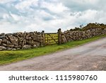 A view of the farmland inside Dartmoor National Park, Devon, United Kingdom - stock photo