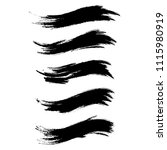 vector set of grunge brush... | Shutterstock .eps vector #1115980919