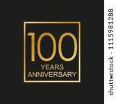 100 years anniversary logo....   Shutterstock .eps vector #1115981288