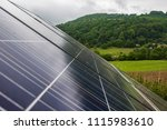 photovoltaic panels on a cloudy ... | Shutterstock . vector #1115983610