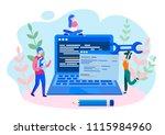 concept programmer  coding ... | Shutterstock .eps vector #1115984960