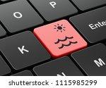 vacation concept  computer... | Shutterstock . vector #1115985299