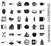 cook icons set. simple style of ...   Shutterstock . vector #1115989103