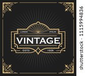 vintage line frame design for... | Shutterstock .eps vector #1115994836