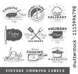 set of vintage cooking labels.... | Shutterstock .eps vector #1115996798