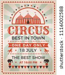 retro poster invitation for... | Shutterstock .eps vector #1116002588