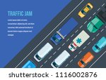 traffic road jam. automobile... | Shutterstock .eps vector #1116002876