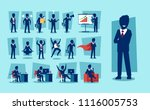 vector set of businessman... | Shutterstock .eps vector #1116005753