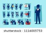 vector set of businessman... | Shutterstock .eps vector #1116005753