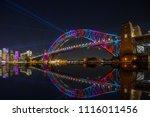 the sydney harbour bridge and... | Shutterstock . vector #1116011456