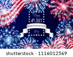 4th of july  american...   Shutterstock .eps vector #1116012569