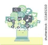 social media signs | Shutterstock .eps vector #111601310