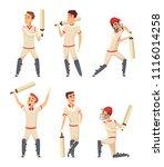 cricket characters. set of...   Shutterstock .eps vector #1116014258