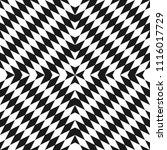 raster monochrome seamless... | Shutterstock . vector #1116017729