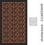 decorative panel. stencil...   Shutterstock .eps vector #1116025649