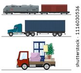 railway transportation and... | Shutterstock .eps vector #1116030536