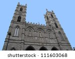 Notre Dame Cathedral in Montreal, Canada - stock photo