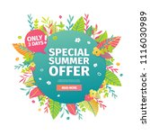 template circle banner for... | Shutterstock .eps vector #1116030989