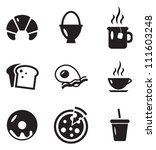 breakfast icons | Shutterstock .eps vector #111603248