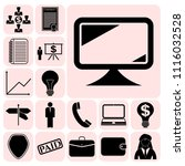 set of 17 business icons or... | Shutterstock .eps vector #1116032528