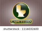 gold badge or emblem with wc...   Shutterstock .eps vector #1116032600