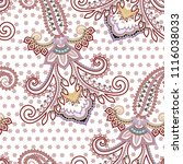seamless pattern with paisley ... | Shutterstock .eps vector #1116038033
