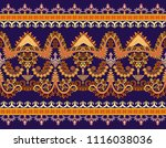 seamless bright border with... | Shutterstock .eps vector #1116038036